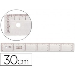 REGUA 30CM LIDERPAPEL CX 20