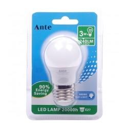 Lampada Led G45 E27 3 W cx 24