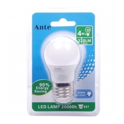 Lampada Led G45 E27 4W cx 24